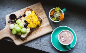 Picture coffee, Breakfast, sandwich