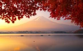 Picture Japan, mount Fuji, lake Kawaguchi