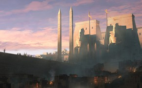 Picture Ancient Egypt, Ancient Egypt, Raphael Lacoste, Assassin's Creed: Origins, Dusk on Memphis, Twilight in Memphis