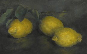 Picture 1929, Alexander Evgenievich Yakovlev, LEMONS, three lemons