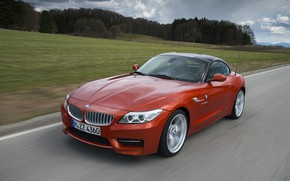 Picture grass, trees, BMW, Roadster, 2013, E89, BMW Z4, Z4, sDrive35is