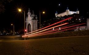 Picture landscape, the city, Spain, retouching, night Toledo