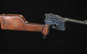 Picture Germany, Red 9, Mauser C96, Self-loading pistol