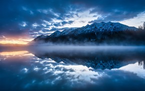 Picture Wasser, Karwendel, Fog, Barmsee, The middle of the forest