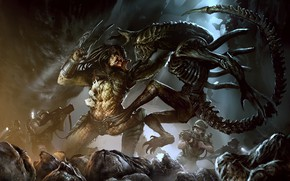 Picture Stranger, Predator, Art, Predator, Alien vs Predator, Darek Zabrocki, Alien vs Predator, AVP: COVER, by …