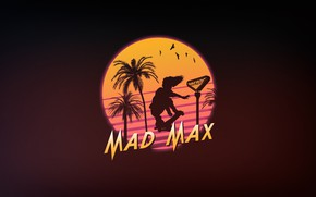 Picture Minimalism, Background, Art, Mad Max, 80's, Synth, Retrowave, Synthwave, New Retro Wave, Futuresynth, Sintav, Retrouve, …