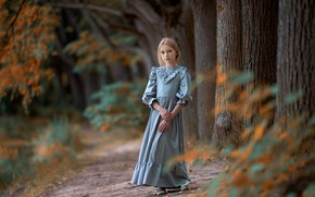 Picture dress, girl, Alexander Vinogradov, Sasha Platonov