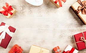 Picture winter, holiday, Christmas, gifts, New year, Christmas decorations, новогодние декорации
