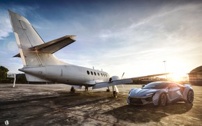 Picture Auto, The plane, Machine, Rendering, Supercar, Concept Art, Sports car, SuperSport, Transport & Vehicles, Benoit …