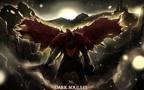 Picture night, cloak, Dark Souls 3