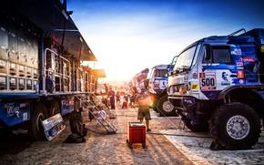 Picture Sunset, The evening, Machine, Truck, Master, Russia, 500, Kamaz, Rally, Dakar, KAMAZ-master, Dakar, Rally, KAMAZ, …