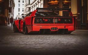Picture Red, Auto, Machine, Red, Car, Rendering, Sports car, Sportcar, Ferrari F-40, Transport & Vehicles, Rostislav …