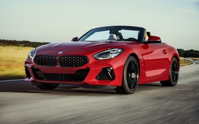 Picture road, red, BMW, Roadster, BMW Z4, First Edition, M40i, Z4, 2019, G29