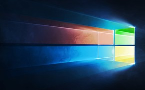 Picture abstract, space, Microsoft Windows, technology, connection, Windows 10