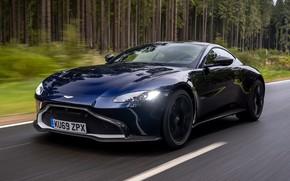 Picture road, machine, forest, asphalt, Aston Martin, 2020, Aston Martin Vantage AMR