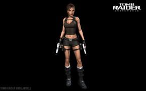 Picture girl, gun, Tomb Raider, Lara Croft, black background, Lara Croft, Tomb Raider: Underworld