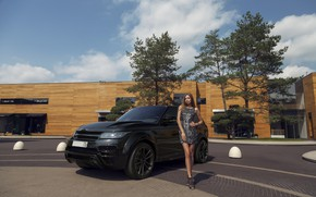 Picture girl, pose, car, Alexander Bazylev