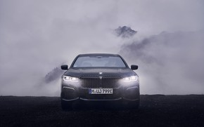 Picture light, BMW, sedan, front view, G12, 2020, 7, 7-series, 2019, 745Le xDrive