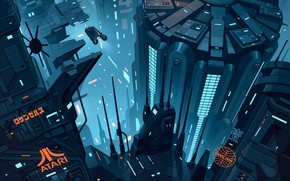 Picture Auto, The city, Machine, Fantasy, Art, Art, Fiction, Sci-Fi, Blade Runner, Blade runner, Science Fiction, …