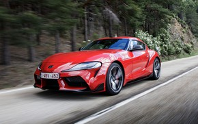 Picture trees, coupe, speed, slope, Toyota, Supra, the fifth generation, mk5, double, 2019, GR Above, A90, …