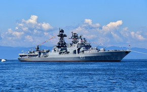 Picture project 1155, Admiral Vinogradov, large anti-submarine ship