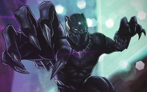 Picture Art, Style, Marvel, Comics, Illustration, Characters, Superhero, Costume, Black Panther, Claws, Saif Z.K