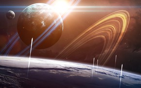 Picture Planet, Space, Planet, Trail, Ships, Planets, Art, Space, Art, Spaceships, Spaceship, Ring, Start, Satellite, Start, …
