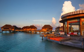 Picture stay, Paradise, The Maldives, Bungalow, The Indian ocean