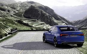 Picture blue, Audi, coupe, back, Audi A5, Coupe, Audi S5, 2019