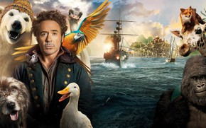 Picture animals, water, ship, Robert Downey ml, Comedy, Robert Downey Jr., 2020, Dolittle, An amazing journey …