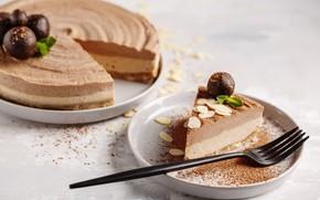 Picture cake, nuts, cream