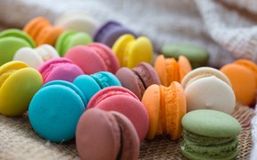 Picture colorful, dessert, pink, cakes, sweet, sweet, dessert, bright, macaroon, french, macaron, macaroon