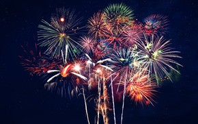 Picture colors, night, fireworks