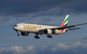 Picture Boeing, liner, Emirates, 777-31H