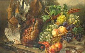 Picture oil, picture, canvas, Still life, 1842, Elisabeth Iosetta Burgklij Glimmer-Hoopstad