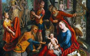 Picture picture, mythology, The adoration of the Magi, Peter Artsen, Pieter Aertsen, 1560