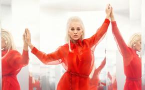 Picture look, girl, pose, photo, dress, mirror, singer, beauty, Rita Ora