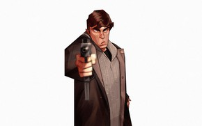 Picture Minimalism, Figure, Background, Art, Art, The film, Brother, Minimalism, Characters, Brother, Digital 2D, Comic Art, …