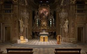 Picture interior, Italy, Italy, Turin, Torino, Church of Saint Cassiano, Grugliasco, Presbytery design, The Church Of …