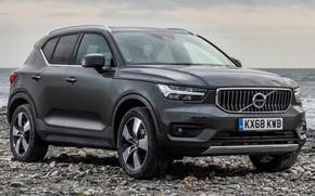 Picture car, grey, lights, Volvo, Volvo, drives, front, side, grey, stylish, crossover, Volvo XC40 Inscription, Volvo …