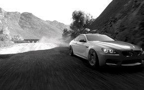 Picture HDR, BMW, Tree, Speed, Bridge, Coupe, Game, BMW M6 Coupe, FM7, UHD, Forza Motorsport 7, …