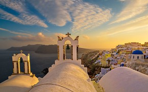 Picture Greece, Church, the island of Santorini