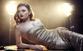Picture light, pose, lamp, model, portrait, makeup, figure, dress, hairstyle, lies, beauty, sexy, Michael Bazaars, Mikhail …