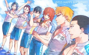 Picture anime, art, guys, Cowardly cyclist, Yowamushi Pedal