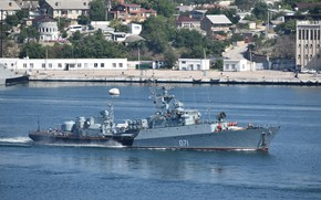 Picture ship, anti-submarine, small, Suzdalets, project 1124m, author Erne