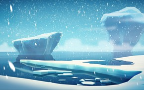 Picture Winter, Snow, Iceberg, Ice, Ice, Art, Art, Rendering, Floe, DOFRESH, by DOFRESH, Keep it simple