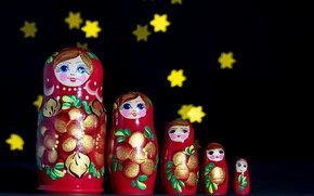 Picture background, color, dolls