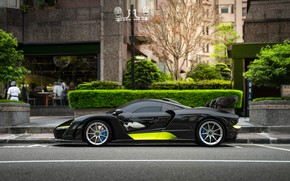 Picture sports car, side view, McLaren Senna