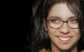 Picture look, girl, face, smile, hair, teeth, glasses, freckles, looks, Devil may cry 5, happy, Nico, ...
