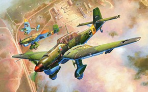 Picture dive bomber, Junkers, Dive bomber, Air force, Thing, Stuka, Ju 87В-2